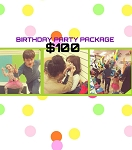 Birthday party package $100